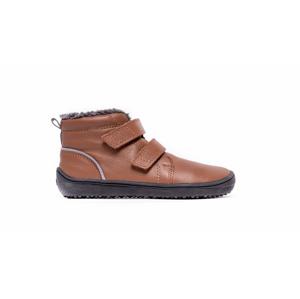 Dětské zimní barefoot boty Be Lenka Penguin - Chocolate 32