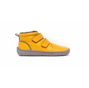 Dětské zimní barefoot boty Be Lenka Penguin - Yellow 26