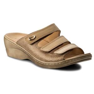 Pantofle Lasocki RST-4751-03 Přírodní kůže (useň) - Semiš