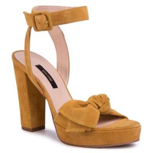 Sandály Gino Rossi A45185-01 Přírodní kůže (useň) - Semiš