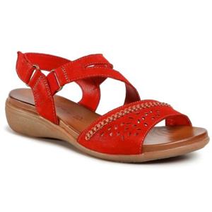 Sandály GO SOFT WI16-ANYA-01 Přírodní kůže (useň) - Semiš