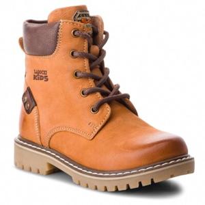 Šněrovací obuv Lasocki Kids CI12-ASPEN-16A Přírodní kůže (useň) - Nubuk