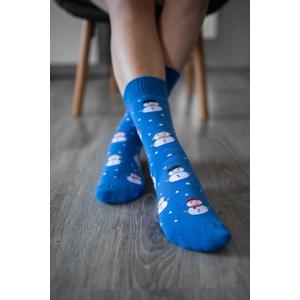 Zimní barefoot ponožky - Sněhulák 39-42